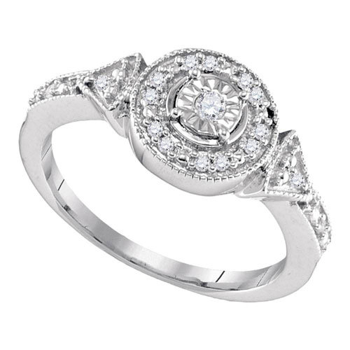 Sterling Silver and 1/8ct Diamond Ring $89
