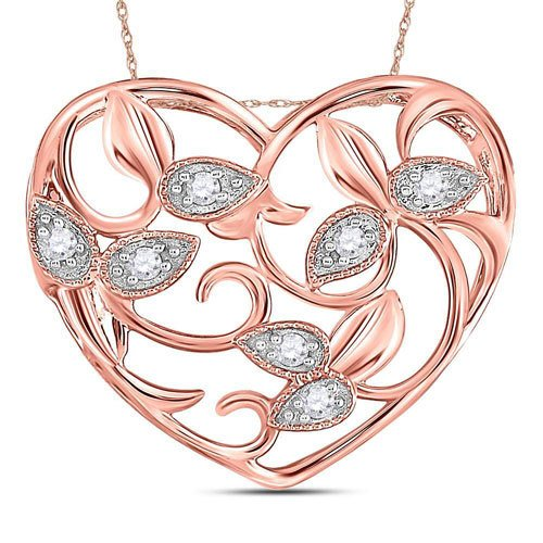 14k Rose Gold and Diamonds Pendant $449